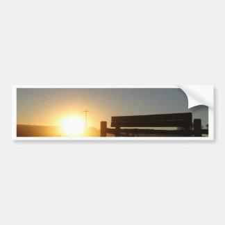 Scottsbluff Nebraska Farming Harvest Fall Sunset Bumper Sticker