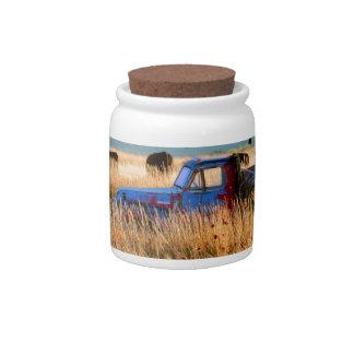 Scottsbluff Nebraska Farming Harvest Fall Sunset Candy Jar