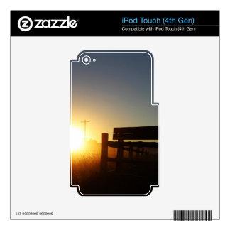 Scottsbluff Nebraska Farming Harvest Fall Sunset iPod Touch 4G Skin