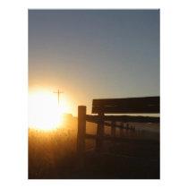 Scottsbluff Nebraska Farming Harvest Fall Sunset Letterhead