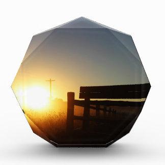 Scottsbluff Nebraska que cultiva puesta del sol de