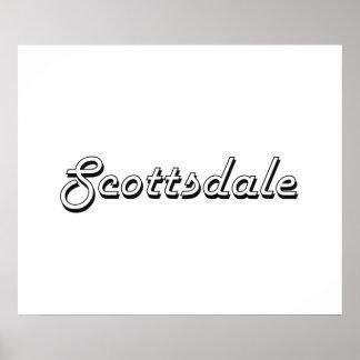 Scottsdale Arizona Classic Retro Design Poster