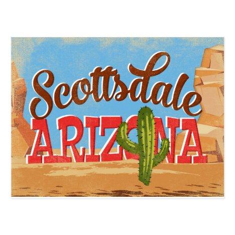 Scottsdale Arizona Vintage Travel Postcard