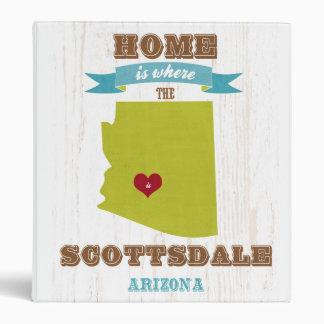 Scottsdale mapa de Arizona - casero está donde el