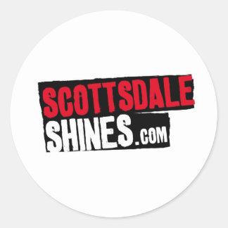 ScottsdaleShines Pegatina Redonda
