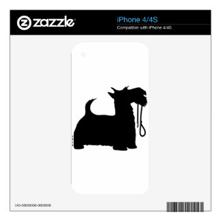 Scotty Dog and Leash Skin For The iPhone 4