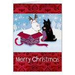 Scotty Dog Christmas Card