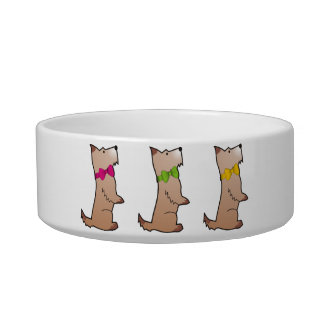 Scotty Dog Parade Pet Water Bowls