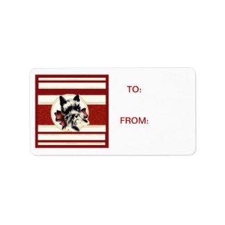 Scotty Dog Scottish Terrier red stripes Tag