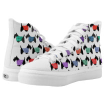 Scotty Dogs and More Scotty Dogs High-Top Sneakers