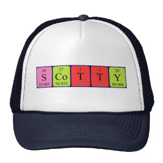Scotty periodic table name hat