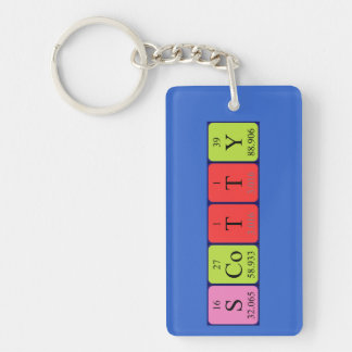 Scotty periodic table name keyring keychain