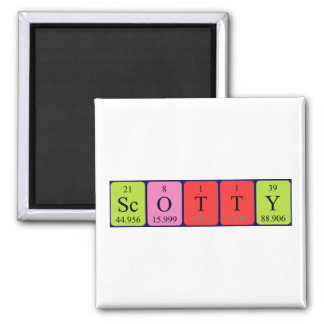 Scotty periodic table name magnet
