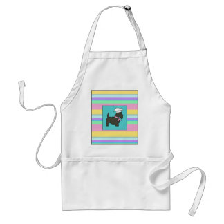 Scotty the Cook Pastel Stripes Adult Apron