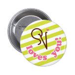 Scotty Valentine Loves You! Pinback Buttons