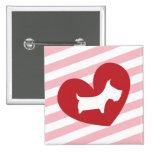 Scotty Valentine Pinback Button