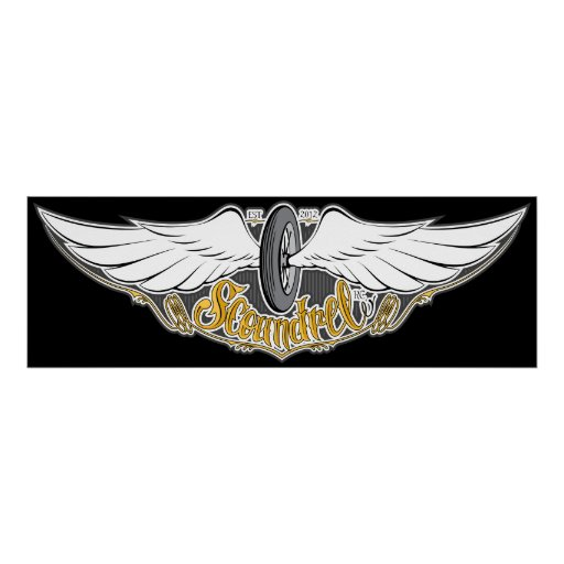 Scoundrel RC Winged Wheel Poster