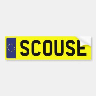 SCOUSE Number Plate Bumper Sticker