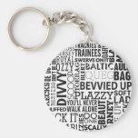 Scouse Words & Phrases Basic Round Button Keychain
