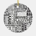 Scouse Words & Phrases Ceramic Ornament