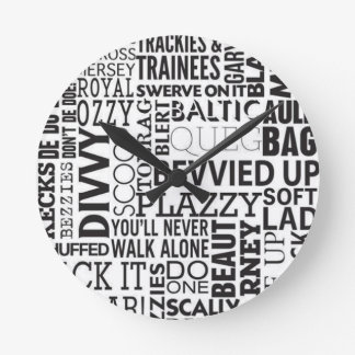Scouse Words & Phrases Round Clock