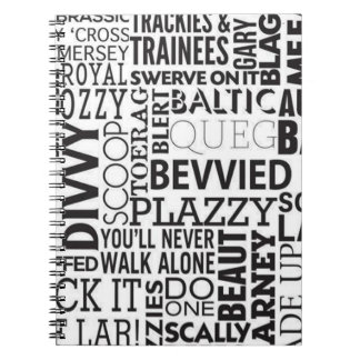 Scouse Words & Phrases Spiral Notebook
