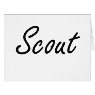 Scout Artistic Job Design Large Greeting Card
