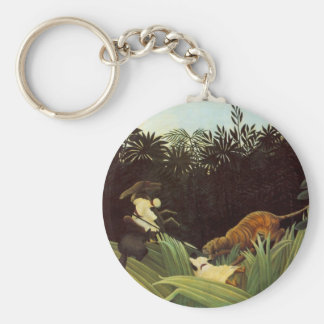 Scout Attacked By A Tiger Basic Round Button Keychain