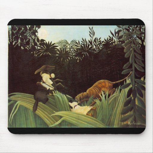 Scout Attacked By A Tiger Mousepad