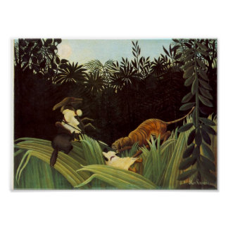 Scout Attacked By A Tiger Poster
