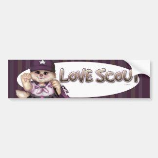 SCOUT CAT 2 GIRL CUTE Bumper Sticker