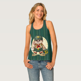SCOUT CAT All-Over Print Racerback Tank Top