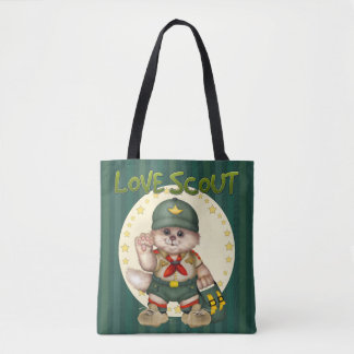 SCOUT CAT All-Over-Print Tote Bag MEDIUM