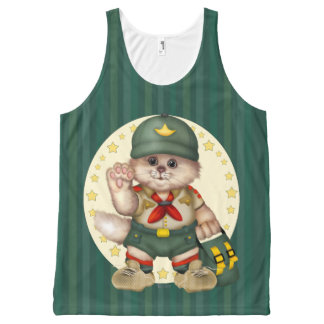 SCOUT CAT AllOver Printed Unisex Tank