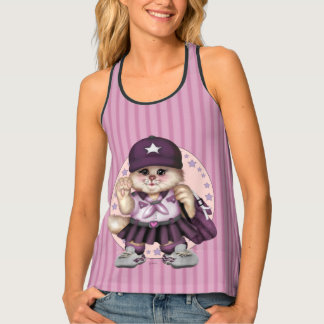 SCOUT CAT GIRL All-Over Print Racerback Tank Top