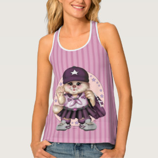 SCOUT CAT GIRL All-Over Print Racerback Tank Top 2