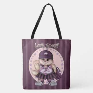 SCOUT CAT GIRL All-Over-Print Tote Bag Large