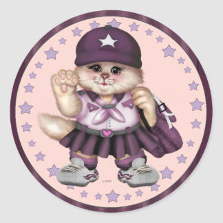 SCOUT CAT GIRL CARTOON AutoCollant Sticker