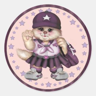 "SCOUT CAT GIRL CARTOON AutoCollant Sticker 3"""