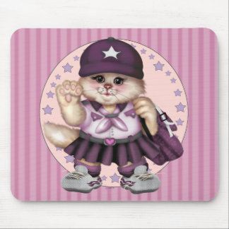 SCOUT CAT GIRL CARTOON CUTE MOUSE PAD