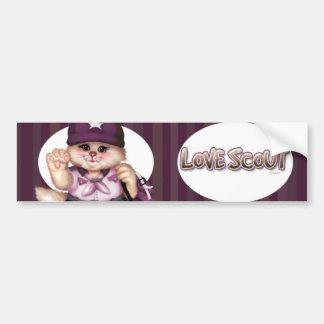 SCOUT CAT GIRL CUTE Bumper Sticker