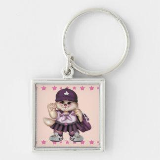 SCOUT CAT GIRL CUTE Button Premium Square Keychain