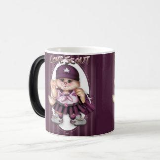 SCOUT CAT GIRL CUTE FUN Morphing Mug 11 onz