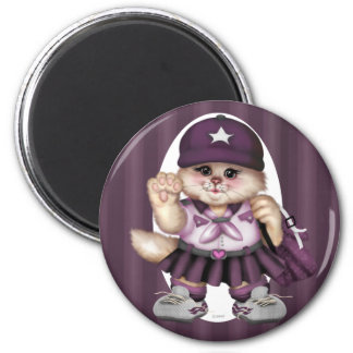 SCOUT CAT GIRL LOVE Round Magnet Standard, 2¼ Inch