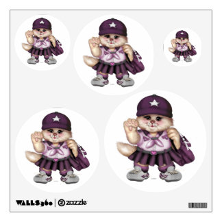 SCOUT CAT GIRL Wall Decal Circle 12  X12 Multiple