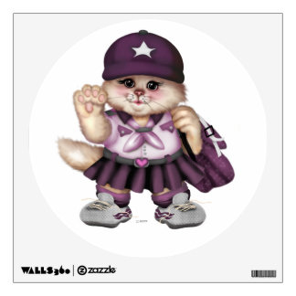 SCOUT CAT GIRL Wall Decal Circle 12 X 12