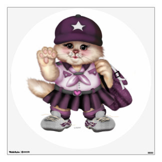 SCOUT CAT GIRL Wall Decal Circle 30 X 30