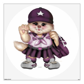 SCOUT CAT GIRL Wall Decal Circle 48 X 48