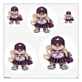 SCOUT CAT GIRL Wall Decal Circle 48 X 48 Multiple