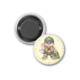 SCOUT CAT LOVE ROUND Magnet  1¼ Inch